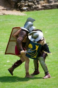 Fighting Roman Gladiators - reenactment